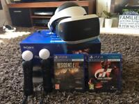 PlayStation VR2 with camera, games and motion controllers