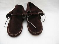 Suede Leather Moccasins Size 9 Vintage Unused
