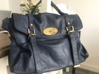 Navy Blue Mulberry Satchel