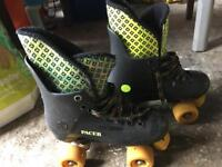 Retro pacer roller boots roller disco quad skates size 5