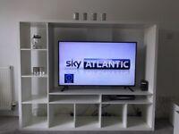 White tv unit excellent condition