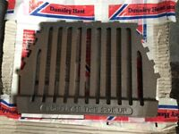 """Dunsley cast iron fire grate. Unused. Approx 14""""x10"""""""