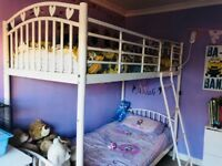 White metal bunk beds from Next