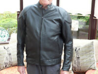 New motorbike hide leather jacket and trousers, never been worn, unwanted present.