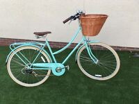 Bobbin Brownie Bicycle - St Ives Green 52cm - with large Gadsby Wicker Basket - Excellent Condition!