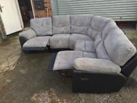 Corner recliner sofa new