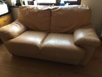 2 Seater Leather Settee from Leekes Sofa