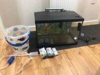 75 L (20 Gallon) Aquarium with Hang on Back Filter