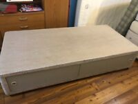 Divan single bed base with storage