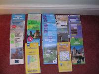 European walking and cycling maps. France, Switzerland, Spain, Slovenia, Ireland, Italy.