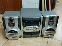 Goodman mini hifi with double cassette & 3 cd changer