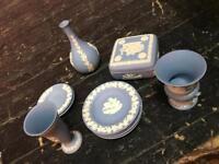 Blue china set