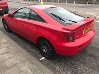 2004 TOYOTA CELICA VVT-I 1.8L RED COUPE- 3 DOOR HATCHBACK MANUAL PETROL APRIL MOT 2018
