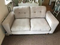 DFS Beckett two seater sofa and cuddler sofa