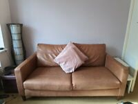 Nearly new John Lewis Bailey Sofas in Sellvagio Cognac