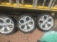 """18"""" Ford Focus ST alloys and tyres"""