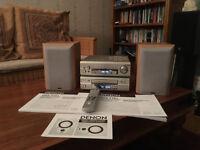 Denon DRA-F101 Receiver and DCD-F101 CD player plus Denon speakers