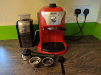 DeLonghi Coffee machine & Krups Grinder