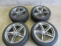-- NEW GENUINE AUDI A5 18 INCH ALLOYS + NEW TYRES ---