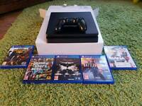 Ps4 slim 500gb with 5 gamea