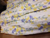 Laura Ashley Sweet Pea curtains, double valance and drapes