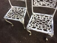 Pair of garden chairs (french style)