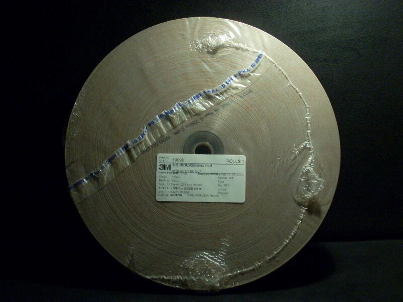 2 Sealed 274mx18.5mm Rolls 3M 15 Micron Aluminum Oxide Microfinishing Film 372L