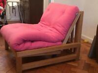Futon single sofa bed - frame only