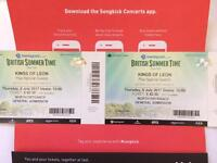 Kings of Leon British summertime tickets Thursday 6th July