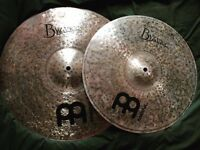 "Meinl 16"" crash and Meinl 18"" Byzance dark crashes"