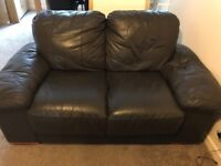 Brown leather sofas, 2 seater and 3 seater. Used condition, but lots of life left in it.