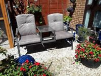 Garden Bench With Table