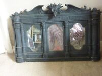 a very nice large gothic style mirror with dragon