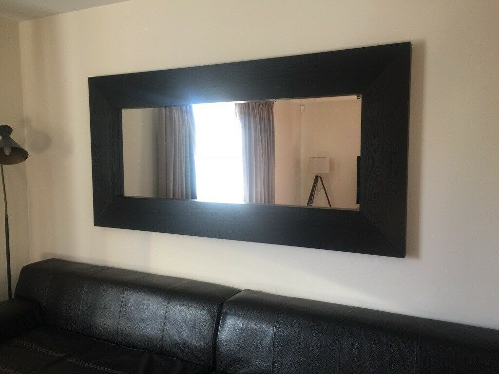 Ikea Mirror Large Brown Black
