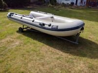 Plastimo Pro 350 RIB dinghy with Mariner 15 outboard & many extras.