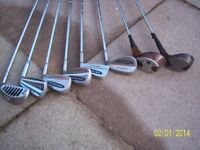 Golf Clubs. 8 off. Old. All well used. Collectable? Price is for the complete lot.