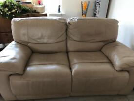 Beige/ cream recliner sofas