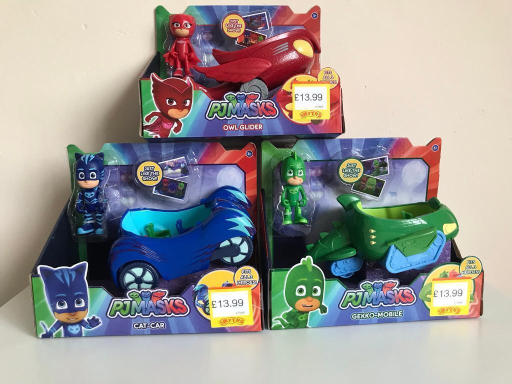 PJ Masks cars x 3