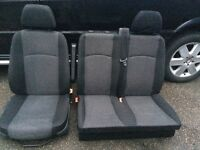 Mercedes Benz Vito front and passenger seats