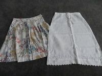 2 gorgeous ladies skirts, size 8, excellent condition.