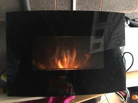 Living flame black electric fire