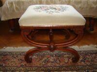 Victorian mahogany x-framed stool