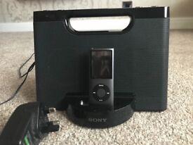 iPod 8gb with Sony dock/speaker