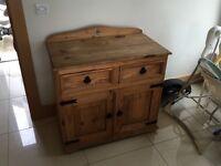 Solid oak side unit