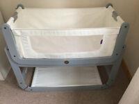 Snuz Pod Cot + mattress, mattress protector, 2 sheets and blanket for sale - Dove Grey