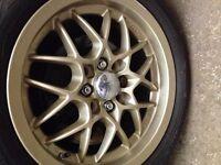 "Very rare JDM Mazda Honda MX5 MX-5 Eunos Roadster Colin String M's Lightweight 15"" Alloy Wheels"