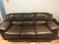 Leather 3 seat sofa