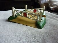 collectible vintage old Hornby Dublo England Meccano Ltd Train Level Crossing, proper old metal one