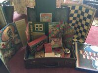 Vintage Suitcase Full of Vintage Games (lovely find)