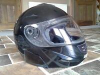 MOTORCYCLE HELMET FLIP UP FRONT